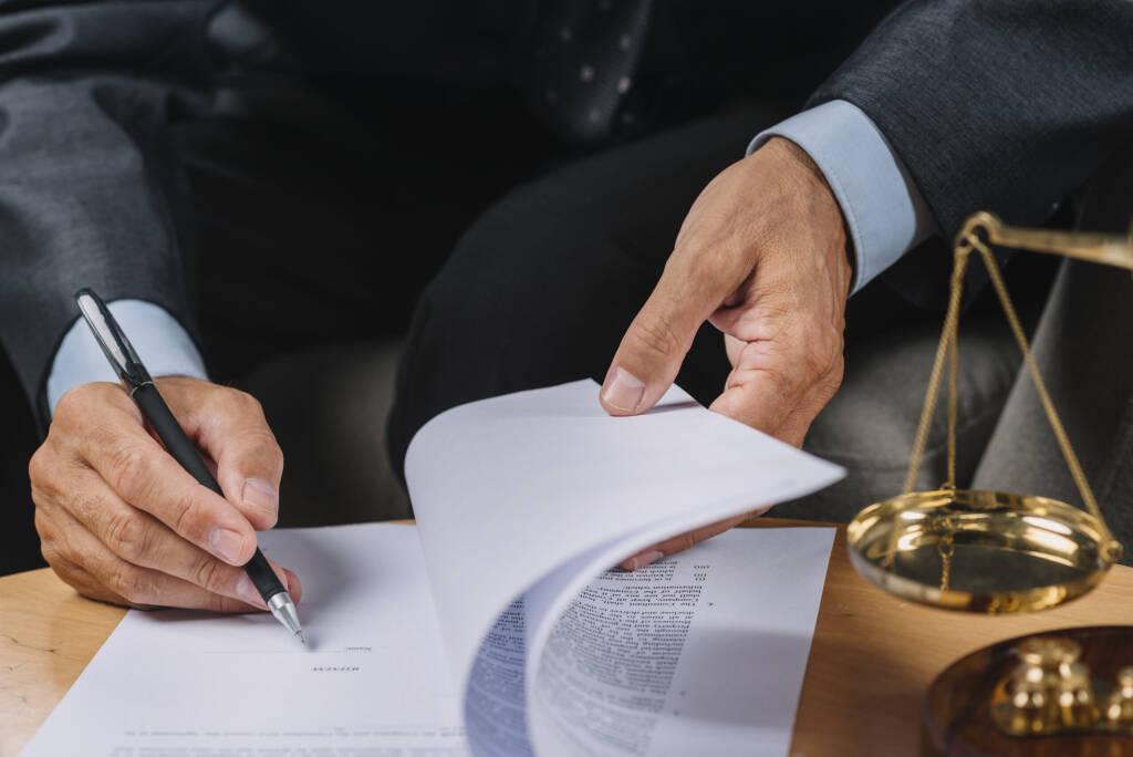 ondertekenen rapport